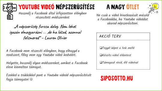 Youtube videó népszerűsítése Facebookon