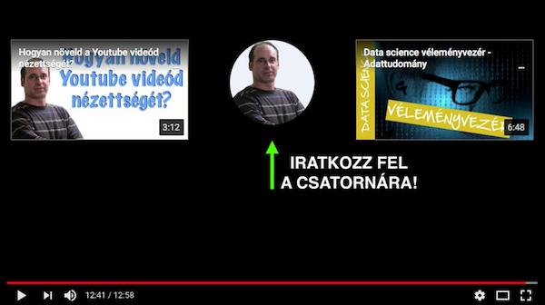 youtube feliratkozás növelés záró képernyő és videó kiemelés használatával