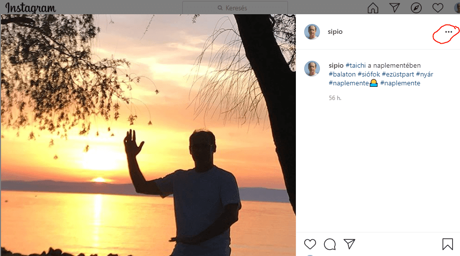 instagram poszt beágyazás kiválasztása