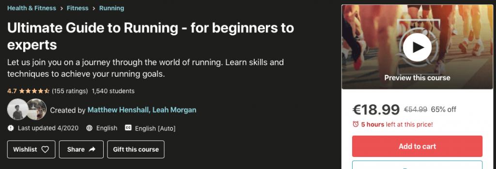 Udemy képzés futás témakörben